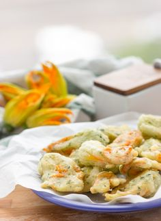 Vegan Fried Zucchini Blossoms