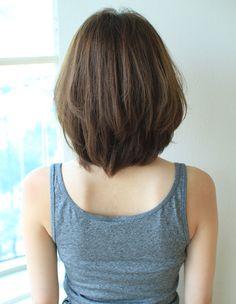 Haircuts For Medium Length Hair, Long Bob Hairstyles, Medium Hair Styles, Long Hair Styles, Evening Hairstyles, Short Hair Back, Girl Short Hair, Short Hair Cuts, Korean Hair Color