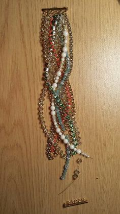Multi strand beaded bracelet diy tutorial
