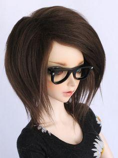 SD BJD wig 8.5 short Pick Your Color fake fur por MonstroDesigns