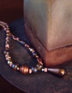 see Om Inspirations Jewelry on FB. necklace, approximately 17 inches long, multi-colored czech glass beads, brown/grey ceramic beads, bronze metal toggle clasp, $25 includes shipping within the U.S. Feel free to send questions to me via facebook email. To order, send payment via paypal: yoginidb@yogafromthegroundup.com
