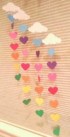 Rainbow & Cloud Garland, Rainbow Birthday Party, Pride, Over the Rainbow : Rainbow & Cloud Garland Baby Shower Nursery Decor Paper Valentine's Day Crafts For Kids, Toddler Crafts, Preschool Crafts, Valentine Day Crafts, Easter Crafts, Valentines, Over The Rainbow, Rainbow Cloud, Construction Paper Crafts