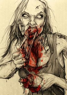 Mmm lunch. Zombie Art, Nice #zombie check out more zombieness on https://www.facebook.com/ZombieCPC