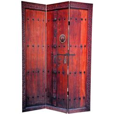"""Oriental Furniture 72"""" x 48"""" Double Sided Doors 3 Panel Room Divider"""