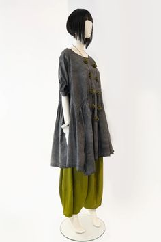 Brasilia Dress in Grey Stonewash Carnaby | KALIYANA.COM Eclectic Style, Hemline, The Incredibles, Boho, Denim, Grey, Skirts, Sleeves, Fabric