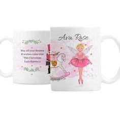 Personalised Ceramic Mug - Sugar Plum Fairy Personalized Christmas Mugs, Personalized Mugs, Christmas Gifts For Kids, Christmas Love, Sugar Plum Fairy, Gifts For Friends, Brand Names, Messages, Ceramics