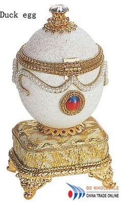 Faberge Egg Music Box Duck Egg