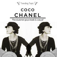 Coco Chanel is Pioner black and white style Black And White Style, Trending Topics, Coco Chanel, Casual, Fashion, Moda, La Mode, Fasion, Fashion Models