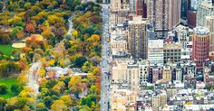 If you could look South on Central Park West to Columbus Circle, this is the view you might have of New York City and Central Park, which was designed in part by Frederick Law Olmsted in 1858. This photo by Kathleen Dolmatch captures the two worlds as they exist side by side. Lucky are those who live in such a beautiful city!