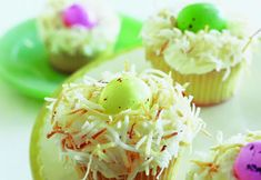 Easter Egg In A Nest Cupcakes