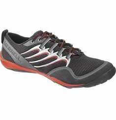0700395c3a86 Merrell trail glove black red mens barefoot running shoe j85525 BNIB Best  Barefoot Shoes
