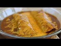 How To Make Beef Enchiladas Topped With Homemade Enchilada Sauce by Rockin Robin - YouTube