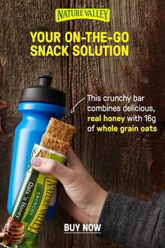 Snacking on-the-go just got a lot easier with Nature Valley Oats 'N Honey Crunchy Granola Bars. This crunchy bar combines real honey with of whole grain oats. Chilli Recipes, Pork Recipes, Chicken Recipes, Crunchy Granola, Granola Bars, Manhattan Recipe, Macaroni Cheese Recipes, Halibut Recipes, Bloody Mary Recipes