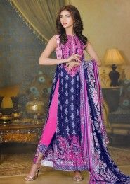 Daily Wear Cambric  Pink Printed Churidar Suit
