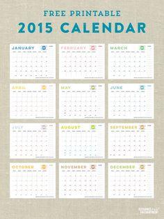 Calendar and Meal Planner Printables - Vertical2