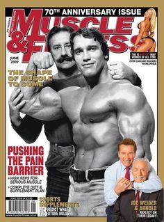 Arnold Schwarzenegger with Joe Weider