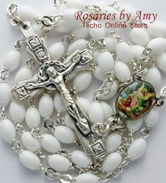 St. Michael Rosary 193C made by Amy Hoffman of Yellowknife, NT. $45.50 Tlicho Online Store