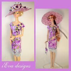 Vintage Posies Fashion Royalty Silkstone Barbie Doll Dress Clothes OOAK handmade #FashionRoyalty #ClothingAccessories