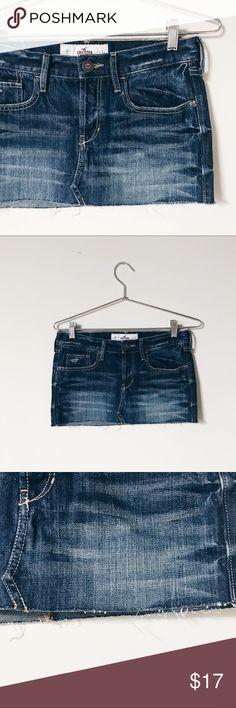 ✖️NEW✖️Hollister Denim Skirt nwt Hollister Denim skirt • size 0 Hollister Skirts Mini