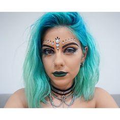 Makeup embellishment #glitter #mermaid #sequins | @SHRstyling