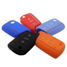 אביזרי רכב מפתח קייס מפתח תיק מפתח כיסוי עבור volkswagen vw גולף 7 mk7 סקודה אוקטביה A7 סיליקון מפתח Portect Case1pc לכל סט