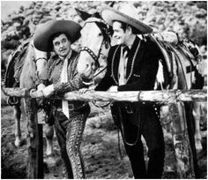 Cisco Kid (1950-1956) - Duncan Renaldo as The Cisco Kid (right), and Leo Carrillo as the jovial sidekick, Pancho (left).