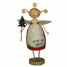 2013 lori mitchell ornaments | Lori Mitchell Tree Trimming Angel Christmas Folk Art Figurine