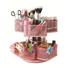 Amazon.com: Nifty Cosmetic Organizing Carousel... I would need like 2 of these to be honest though LOL