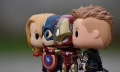 Hawkeye, Iron Man, Capitan America y Capidiosa Marvel Funko Pop Marvel, Lego Marvel, Marvel Avengers, Funko Toys, A Kind Of Magic, Pop Toys, Anime Figurines, Avengers Wallpaper, Funko Pop Figures