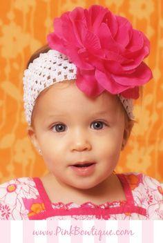 954451a3a5438 Lovely Hot Pink Girls Flower Headband