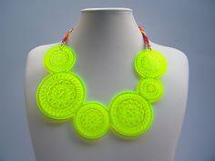 Neon Geometric Jewelry by Anita Montiel