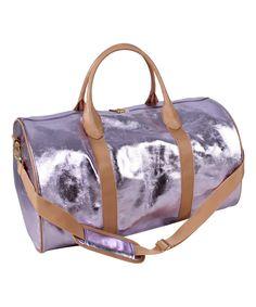 Look what I found on #zulily! Purple Logan Barrel Satchel by Nicole Miller #zulilyfinds