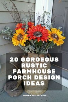 20 Gorgeous Rustic Farmhouse Porch Design Ideas - HomyBuzz