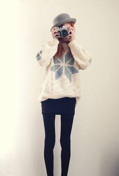 Single Snowflake (by Michaela Scalisi) http://lookbook.nu/look/4197825-Single-Snowflake