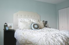 """Just made a headboard very simalar to this one. I love it! It really """"makes"""" the room. Will post a picture of it."""