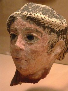 Egyptian Mummy Mask 2nd to 4th century CE plaster