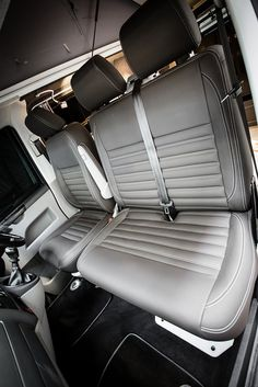 """Traditional """"Lux"""" Conversions - New Wave Custom Conversions Vw Transporter Camper, Vw Camper, Vw T5 Interior, Interior Ideas, Vw Conversions, Camper Remodeling, Remodeled Campers, Campervan, Vip"""