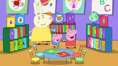 Peppa and George at the library!!! Bebe'!!! What fun!!!