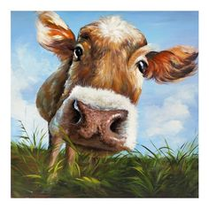 100%Handpainted Modern Cow Pictures Abstract Art On Canvas Animals Oil Painting For Bed Room Wall Pictures Home Decor Art-in Painting & Calligraphy from Home & Garden on Aliexpress.com | Alibaba Group