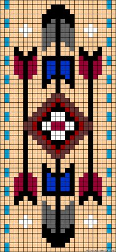 off loom beading techniques Seed Bead Patterns, Peyote Patterns, Beading Patterns, Cross Stitch Patterns, Native Beadwork, Native American Beadwork, Loom Bands, Perle And Co, Native American Patterns