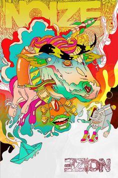 noize - Illustrations by Douglas Bicicleta  <3 <3