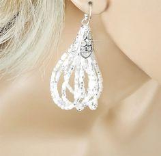 MultiStrand Bridal Earrings by PixieDustFineries