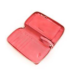 Billetera larga para dama, línea Degrade en técnica espazolato. Zip Around Wallet, Lady, Leather, Accessories