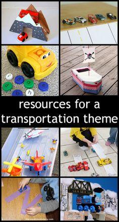 25 Resources for a Preschool Transportation Theme