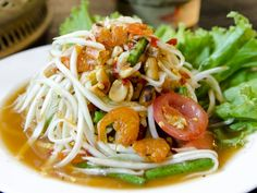 Tips of Thai food - When we use featuring (most of time after a song), we are always talking about a key person or a key thing which contribute remarkably to the first item. And this time we are going to describe Thai foods saying, in a funnier way, they are featuring these following things.