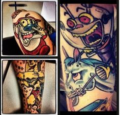 Ren & Stimpy Sleeve Tattoo