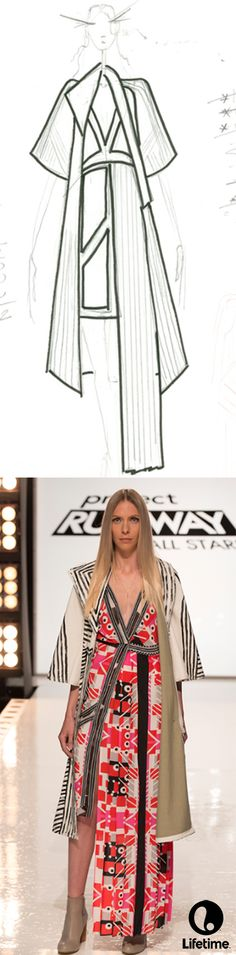 We're loving this gorgeous sketch from the finale of Project Runway All Stars.