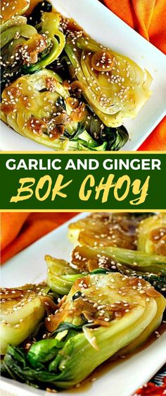 You'll adore garlic and ginger bok choy. It's awesome with rice or as a side dish for chicken. Vegetarian Chicken, Vegetarian Recipes, Cooking Recipes, Healthy Recipes, Healthy Dinners, Healthy Food, Chinese Side Dishes, Side Dishes For Chicken, Easy Asian Recipes