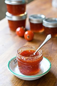 This sweet tomato jam is an old-fashioned and unusual preserve made from just tomatoes, lemon juice and sugar.