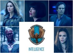 Please give credit if you repin, thank you :) Ravenclaw House, Marvel Edition by Feminist Unicorn jane foster hope van dyne wasp bruce banner hulk vision jarvis wanda maximoff scarlet witch scarlet vision harry potter hogwarts house sorting hat (none of the images are mine. Editor used: BeFunky)